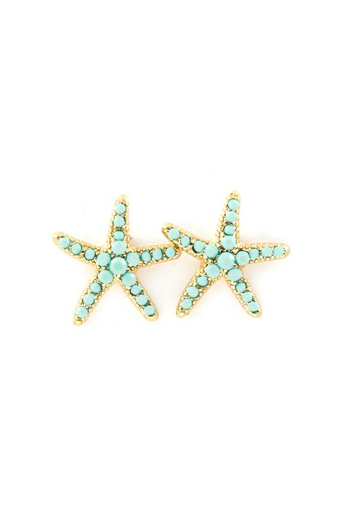 Mintylicious Starfish Earrings on Emma Stine Limited