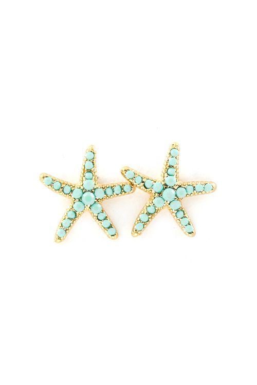 Mintylicious Starfish Earrings on Emma Stine Limited