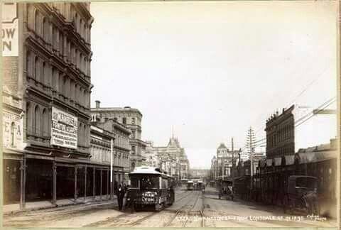 Swanston St,Melbourne in 1896.