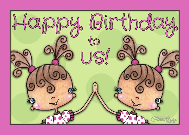 Happy Birthday For Twin Sister High Five Girls With Pigtails Card Ad Sponsored Happy Birthday Twin Sister Birthday Cards For Twins Sister Birthday Quotes