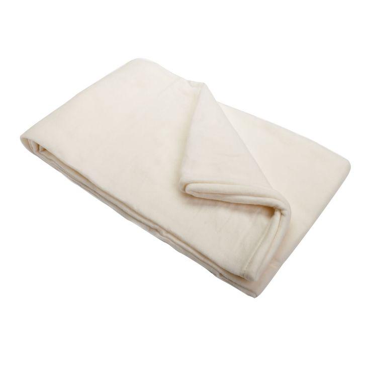 Wilko Fleece Throw Cream 120 x 150cm