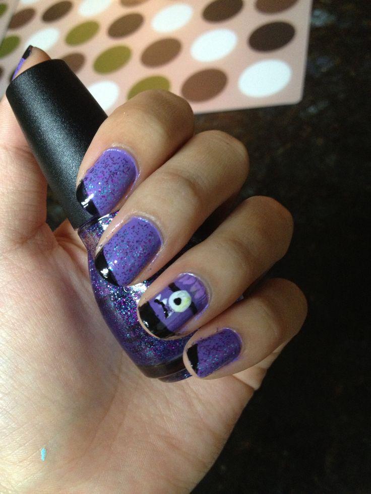 11 best purple evil minion nail art designs images on