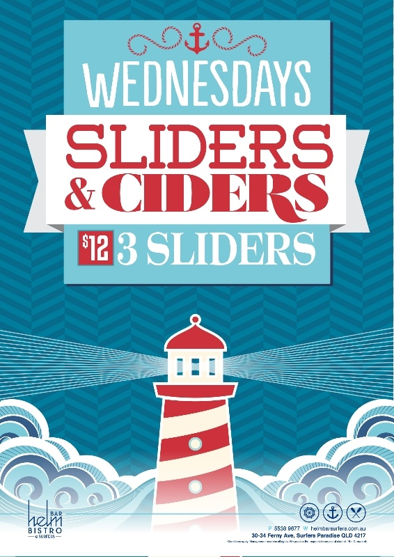 Promotion for Helm Bar Surfers Paradise, by Copirite