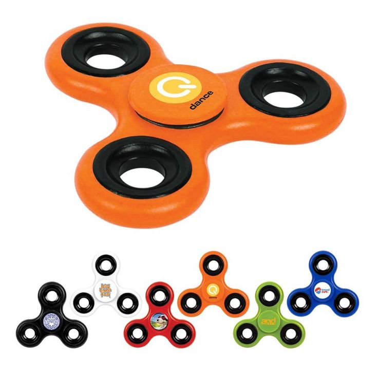 The hottest toy is now custom fidget spinners- promote your brand name and logo using these super stress-relieving toys! Our custom spinner is made of strong and durable ABS plastic with steel ball bearings in the center for smooth spinning. You will never be bored again at the office!