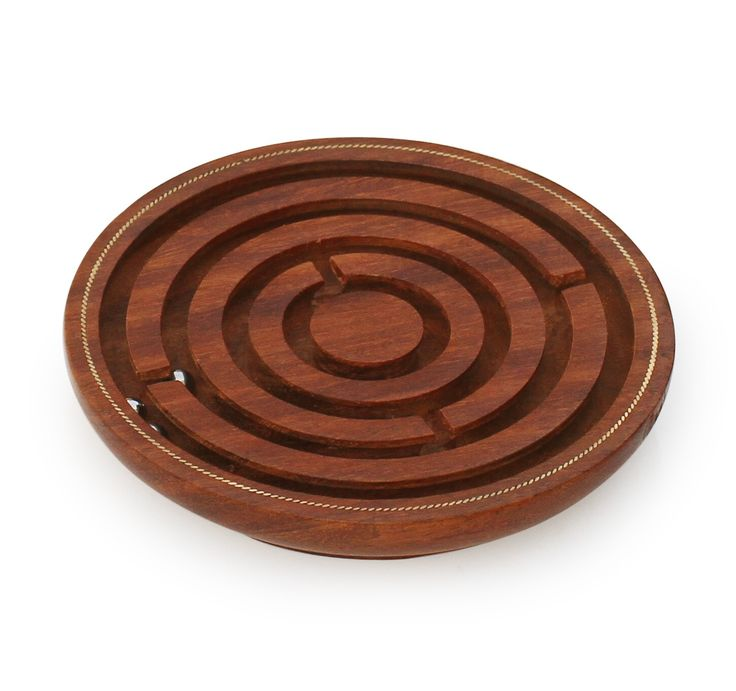 """Puzzling Affairs – #Handmade 5"""" #Wooden #Labyrinth #Board #Game in Maze #Puzzle with 3 Balls"""