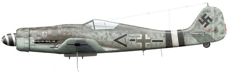 Focke Wulf Fw 190 D-9 Black Chevron1 bar of Stab JG 4, Frankfurt-Main/Germany, March 1945 © Claes Sundin 2017