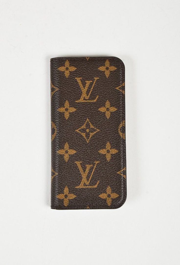 "Louis Vuitton Brown Monogram Coated Canvas ""iPhone 7 Folio"" Case"