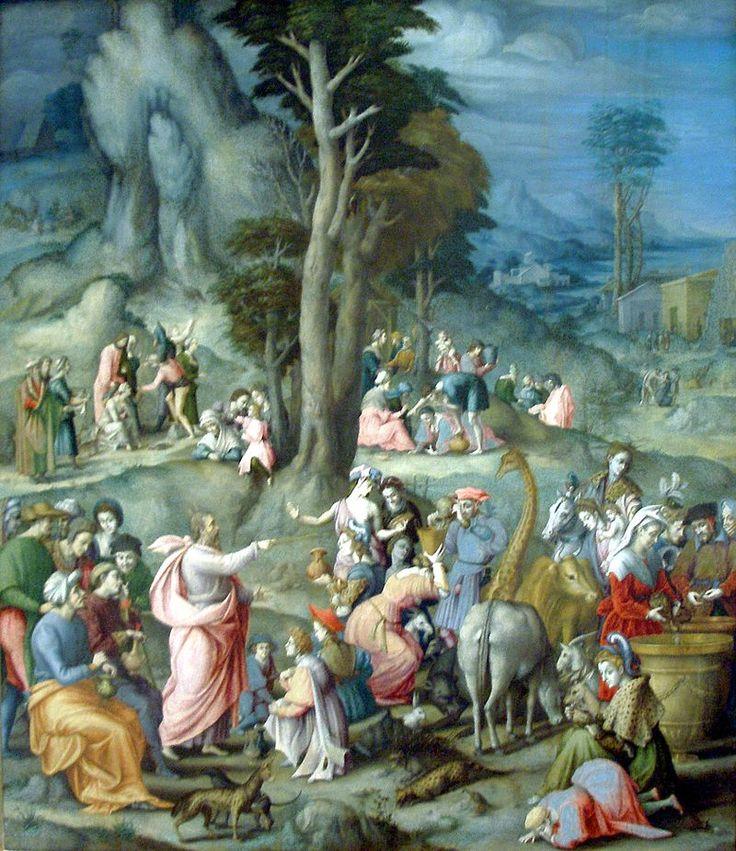 The Gathering of Manna-1540 1555-Bacchiacca - Giraffa dei Medici - Wikipedia