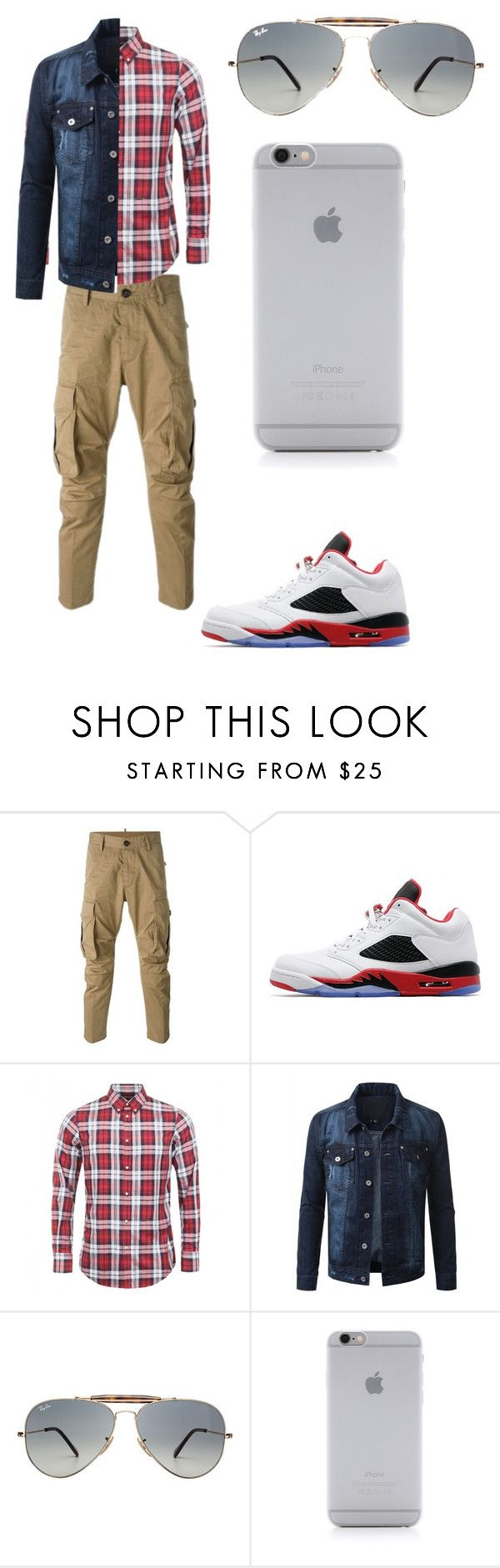 """School outfit #highschool #boys"" by mosthated89 ❤ liked on Polyvore featuring Dsquared2, Jordan Brand, Ray-Ban, Native Union, men's fashion and menswear"