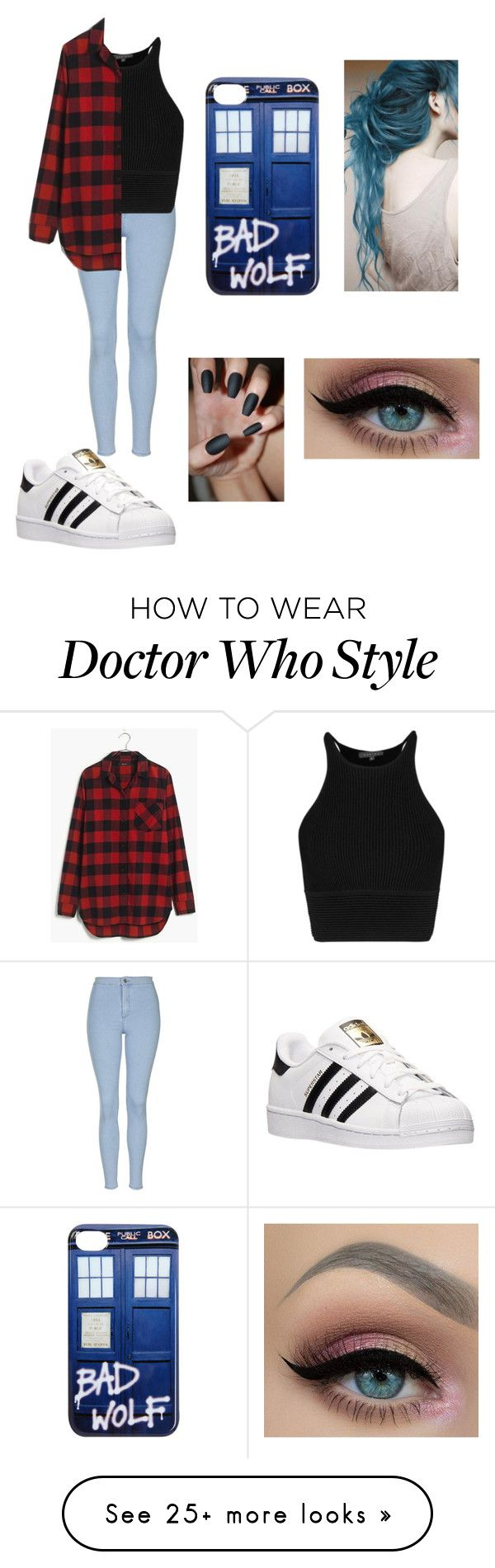 """Bad wolf"" by moonstonepurple on Polyvore featuring Topshop, Madewell and adidas"