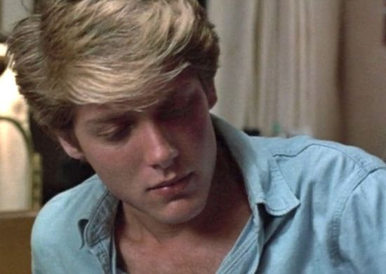 James Spader in Tuff Turf (1985): It is very 80s and awesome. All I can say is Kim Richards' hair :)