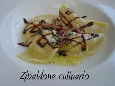 Zibaldone culinario: Ravioli di pere con speck e aceto balsamico