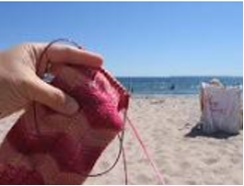 4. Favorite Summer Activity:  Besides knitting? A nice breeze, sun, and the beach! (with my project bag closeby so I can knit some more)