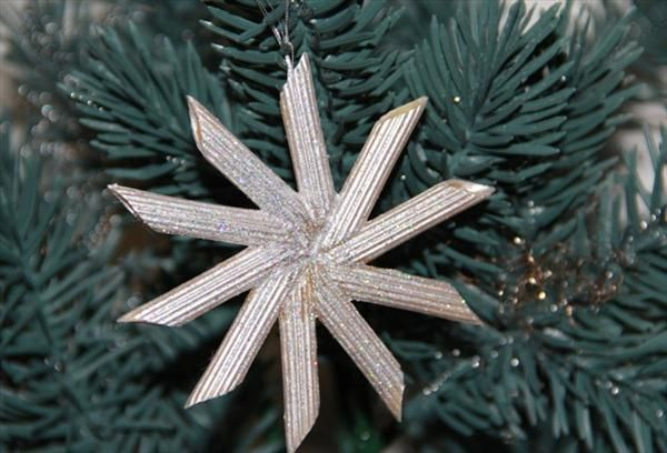 christmas crafts kids tree ornaments pasta silver star