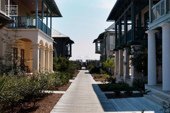 New urbanism in Rosemary Beach, FL.