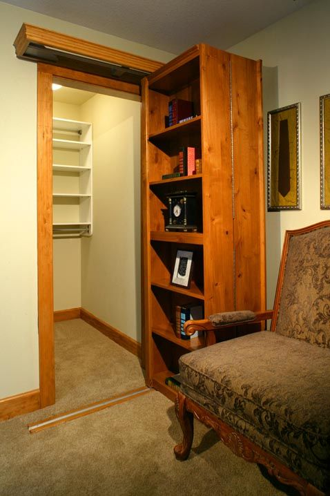 17 best images about hidden rooms hidden things secret for Closet safe room