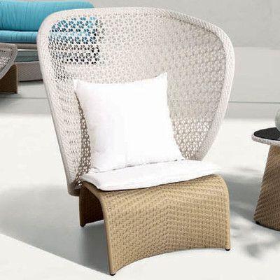 100 Essentials Exotica High Back Single Sofa with Cushions Finish: Wheat, Fabric: Sunproof Light Grey