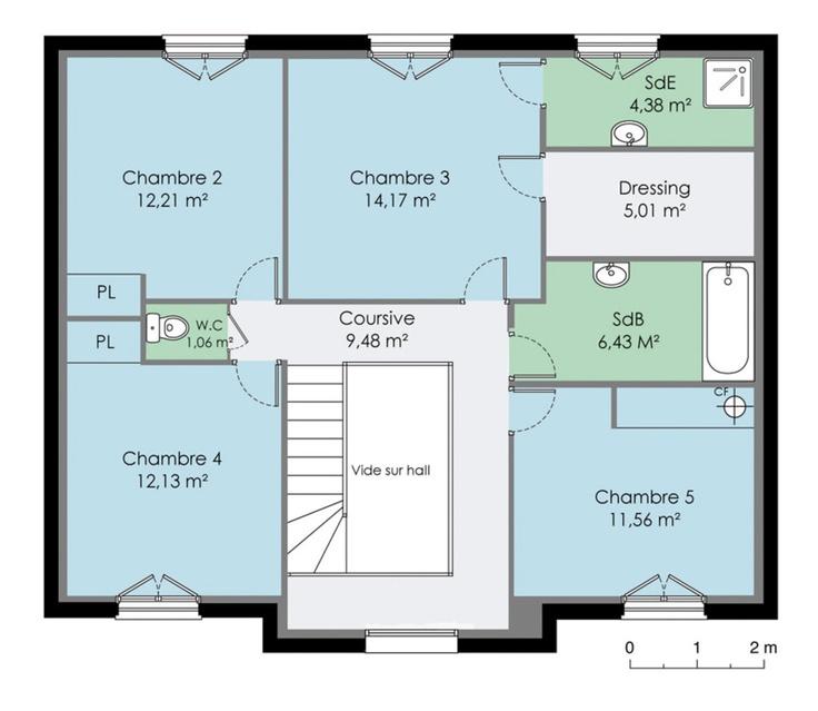 Maison 160 m² Etage
