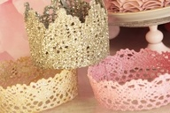 How to make lace crowns.  Perfect for a little girls birthday party.