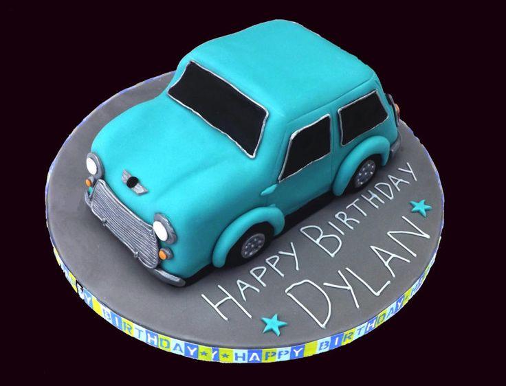 Classic Mini Car Cake - Cake by TheNiceSliceBakery