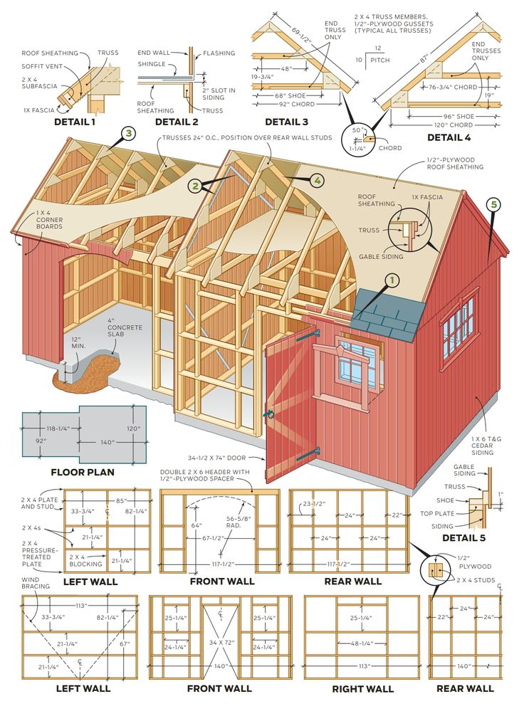 How To Build A Shed – 2 In 1 Backyard Shed: Step By Step Instructions for a 10 X 12 & 8 X 10 Ft Combo Shed Here's a handsome Colonial-style storage shed that's one of the most…