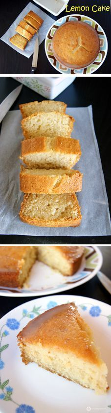 A soft, spongy and tangy Eggless Lemon Cake with a super delicious and tamgy Lemon Glaze on top. Substitute regular milk with non-dairy milk and butter with a flavorless oil to make it Vegan.