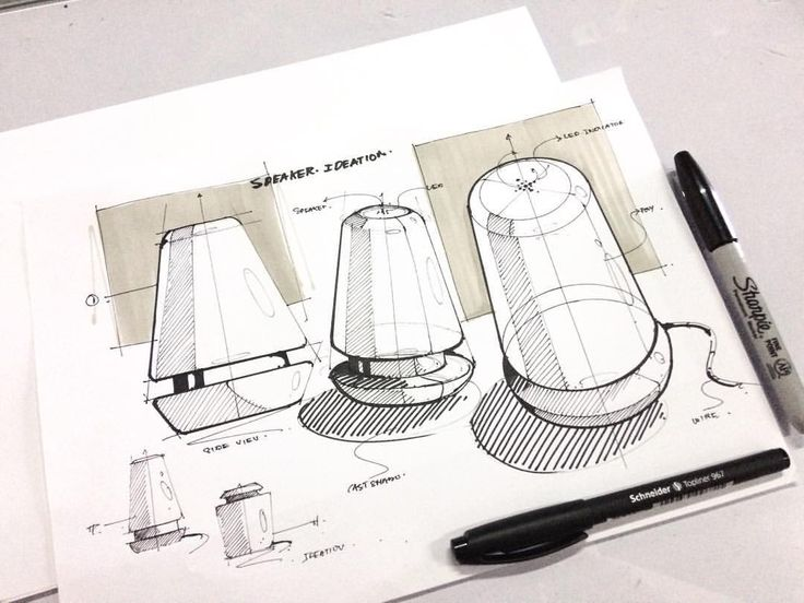 """384 Me gusta, 4 comentarios - Abhinav Changmai (@changmaisketches) en Instagram: """"Bluetooth speaker sketch ✍ . . . #id #ideation #idstudent #idsketches #illustration #product…"""""""