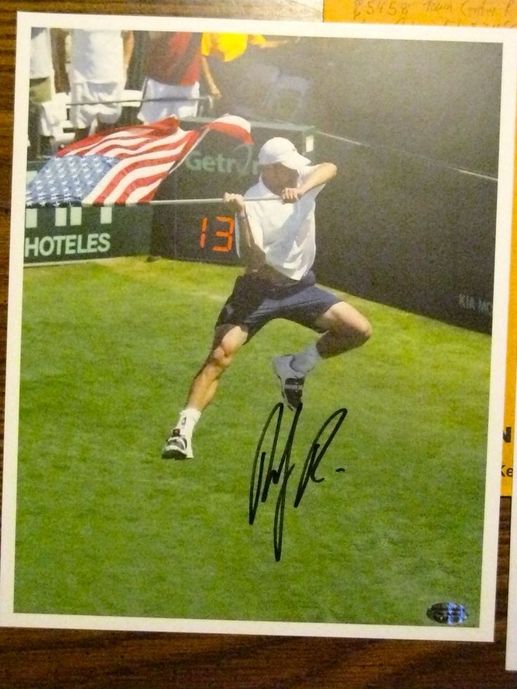 """Item specifics   Seller Notes: """"Andy Roddick Autographed 8×10 Photo With Numbered Hologram (69 of 200) from The Andy Roddick Foundation, and The Addressed Envelope From The Andy Roddick Foundation To The Charity The Photo Was Donated To, and A Letter The Charity Provided Me The... - #Tennis https://lastreviews.net/sports-fitness/tennis/andy-roddick-autographed-8x10-photo-usa-mens-tennis-collectible-souvenir-signed-2/"""