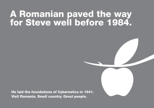 Stefan Odobleja was Romanian. And yes, we have the finest apple trees in the world.
