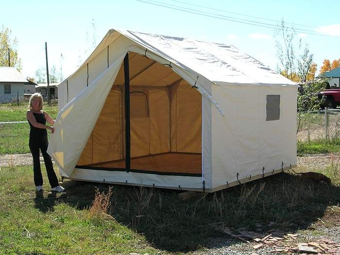 Wall tents david ellis canvas products shtf for How to make a canvas tent