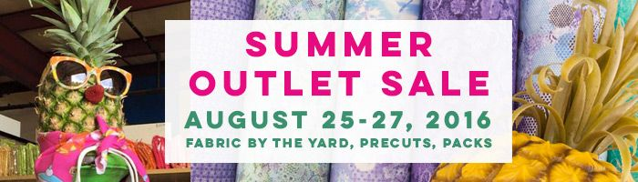 Today we open our doors the 25th - 27th for our August 2016 Summer Outlet Sale! Come see us in Archdale NC!   For more info click the image or the link below: http://www.pineapplefabrics.com/fabric-outlet-sale
