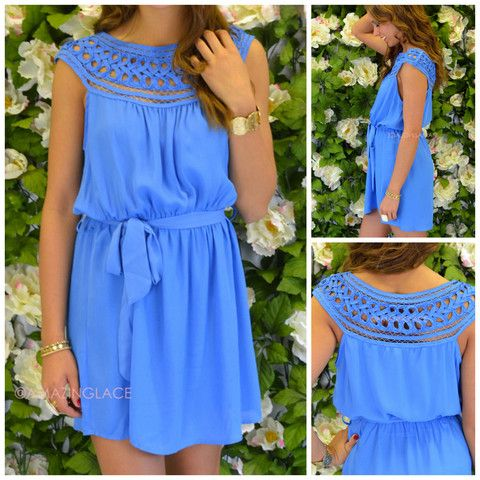 Lawson Applique Neckline Blue Dress   Amazing Lace......I'm in love with this dress. I can't wait to get it in the mail!!!