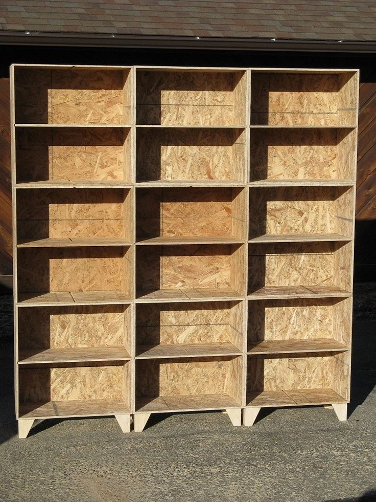 Handmade Natural Osb Unfinished Modular Bookcases Large By Modular Osb Moveis
