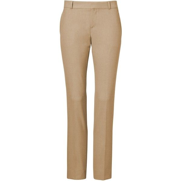 Ryan Slim Straight-Fit Luxe Brushed Twill Pant ($98) ❤ liked on Polyvore featuring pants, slim fit pants, slim straight pants, slim trousers, straight trousers and slim fitted pants