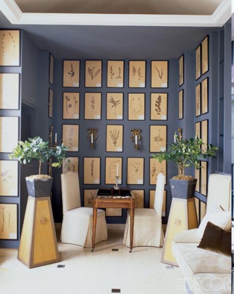 loving these framed plants from floor to ceiling #onekingslane