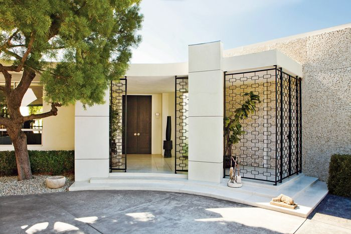 Mid century style at the home of Ellen DeGeneres and Portia de Rossi. The house was originally designed in 1956 by Harold Levitt.