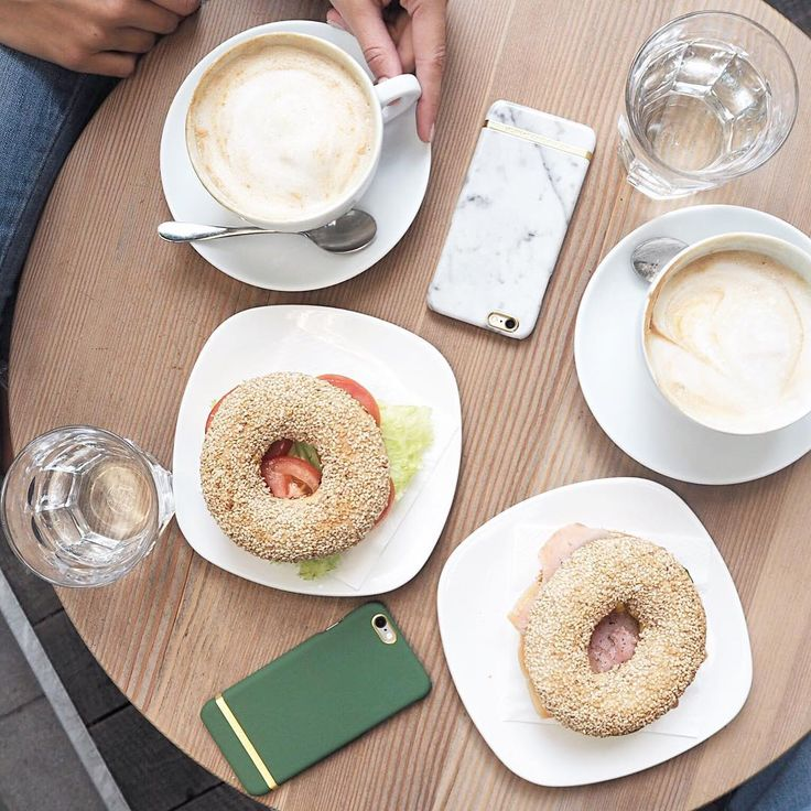 coffee and bagel date