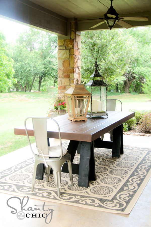 Ana White | Build a Sawhorse Outdoor Table | Free and Easy DIY Project and Furniture Plans