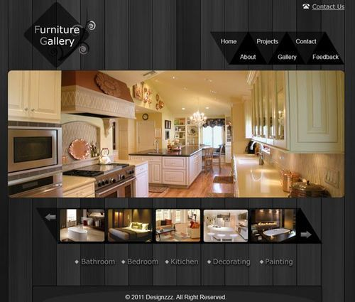 Free Furniture Website And Gallery PSD Layout Web Design Template For A Or Craft Makers