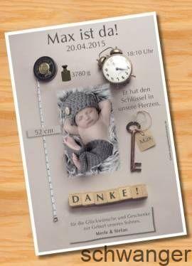Danksagungskarten Geburt Geburtskarte MUSTER 96 – Bild vergrößern,  #schwanger…