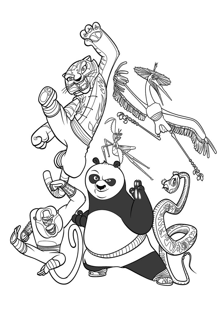 kung fu panda coloring pages for kids printable free