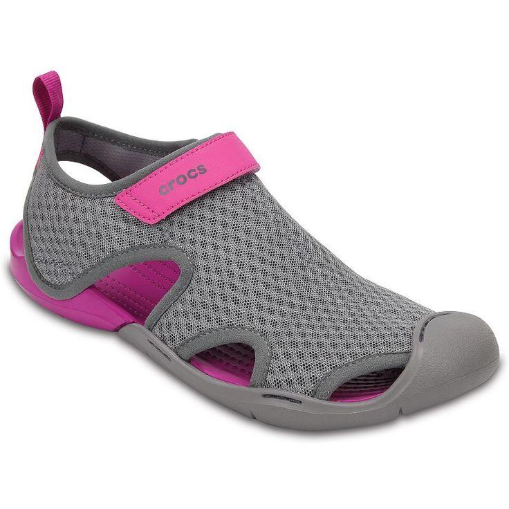 Crocs Swiftwater Women's Mesh Sandals, Size: 6, Black
