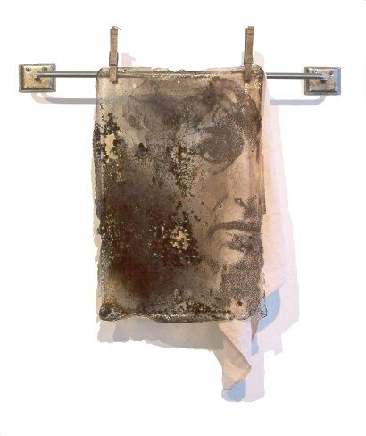 Photo transfer plus creative use of found objects