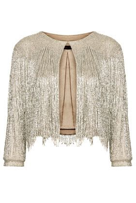 This so reminds me of Hannah Montana ..... Fantastic. **Beaded Fringe Jacket by Kate Moss for Topshop