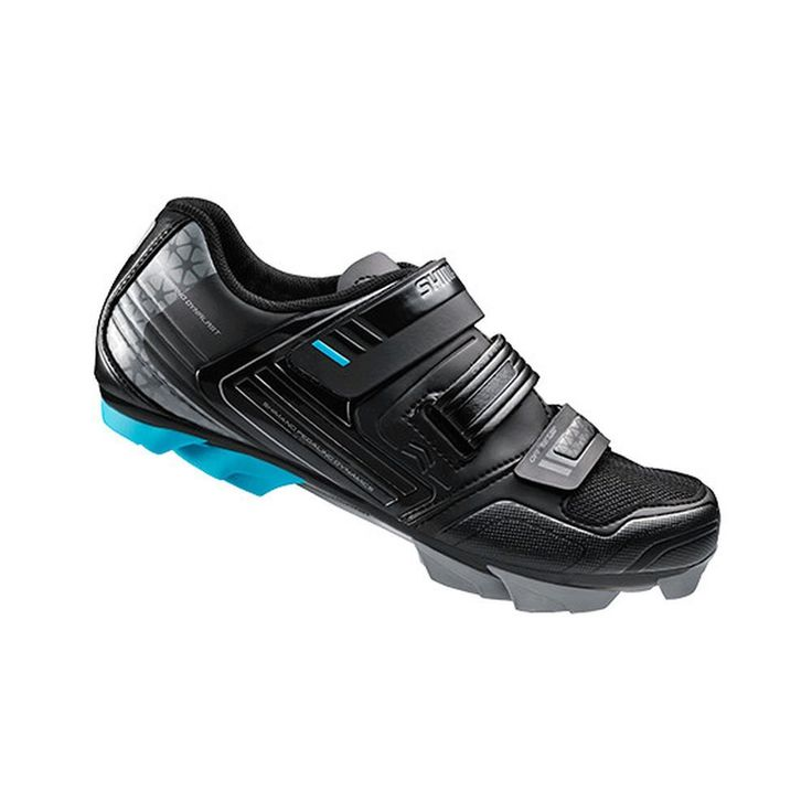 Shimano SH-WM53 Cycling Shoe - Women's Black, 41.0. Upper Material: synthetic leather. Closure: 3 hook-and-loop straps. Sole: glass fiber reinforced nylon, polyurethane lugs. Cleat Compatibility: 2-bolt. Claimed Weight: [size 40] 616 g.
