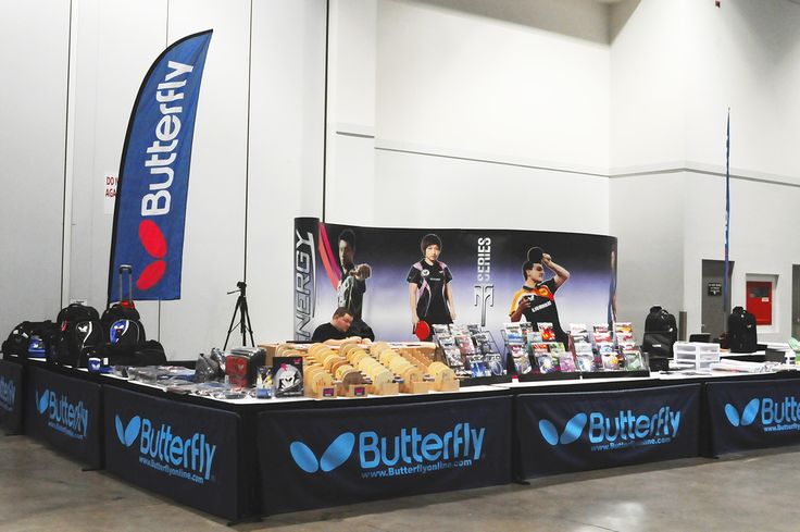 Butterfly Table Tennis Booth - Offering table tennis / ping pong rackets, balls, clothing, accessories and more