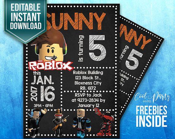Roblox Invitation Invite Birthday
