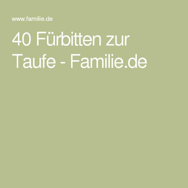 40 Fürbitten zur Taufe - Familie.de
