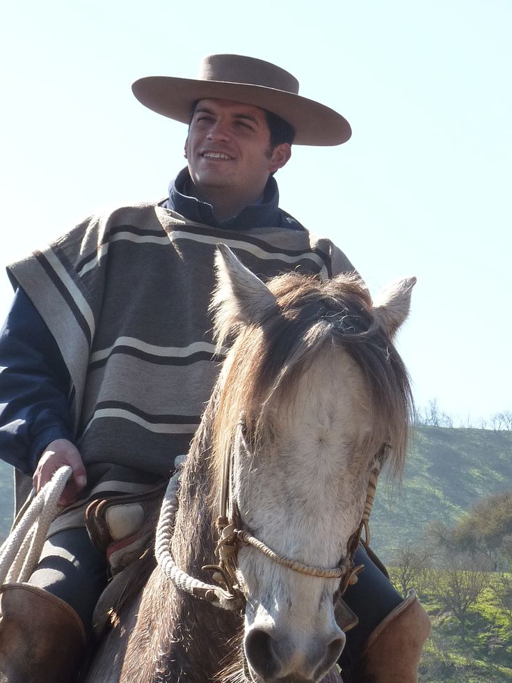 Chilean huaso - riding rodeo