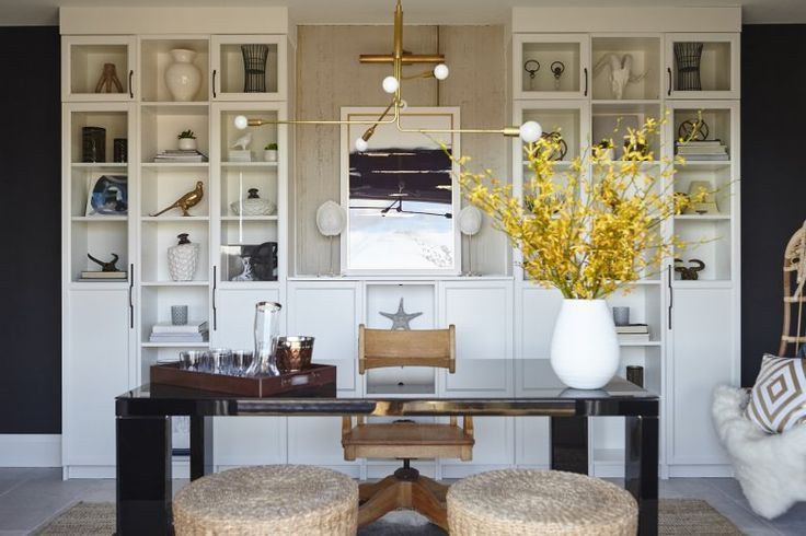 Home to Win on HGTV: The Library - Hello Yellow Blog